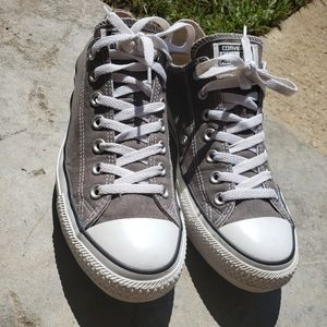 Converse gray mens size 11 all star kicks low top